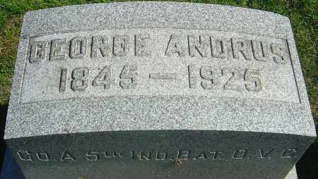 ANDRUS, GEORGE - Franklin County, Ohio | GEORGE ANDRUS - Ohio Gravestone Photos