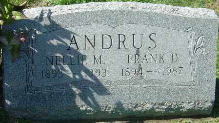 ANDRUS, NELLIE M - Franklin County, Ohio | NELLIE M ANDRUS - Ohio Gravestone Photos