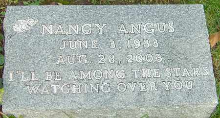 ANGUS, NANCY - Franklin County, Ohio | NANCY ANGUS - Ohio Gravestone Photos