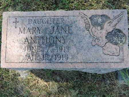 ANTHONY, MARY JANE - Franklin County, Ohio | MARY JANE ANTHONY - Ohio Gravestone Photos