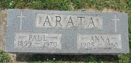 ARATA, PAUL - Franklin County, Ohio | PAUL ARATA - Ohio Gravestone Photos