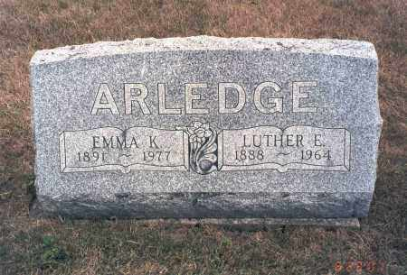 ARLEDGE, EMMA K. - Franklin County, Ohio | EMMA K. ARLEDGE - Ohio Gravestone Photos