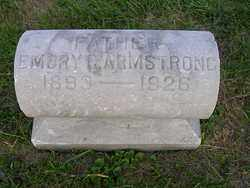 ARMSTRONG, EMORY - Franklin County, Ohio | EMORY ARMSTRONG - Ohio Gravestone Photos
