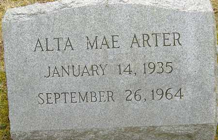 ARTER, ALTA MAE - Franklin County, Ohio | ALTA MAE ARTER - Ohio Gravestone Photos