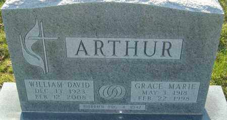 ARTHUR, WILLIAM DAVID - Franklin County, Ohio | WILLIAM DAVID ARTHUR - Ohio Gravestone Photos