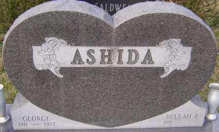 ASHIDA, GEORGE - Franklin County, Ohio | GEORGE ASHIDA - Ohio Gravestone Photos