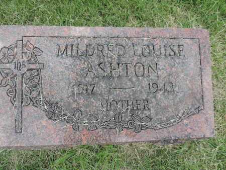 ASHTON, MILDRED LOUISE - Franklin County, Ohio | MILDRED LOUISE ASHTON - Ohio Gravestone Photos