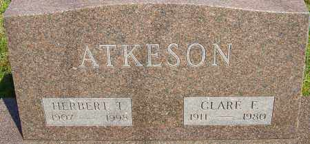 FRENCH ATKESON, CLARE - Franklin County, Ohio | CLARE FRENCH ATKESON - Ohio Gravestone Photos