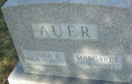 AUER, LUTHER - Franklin County, Ohio | LUTHER AUER - Ohio Gravestone Photos