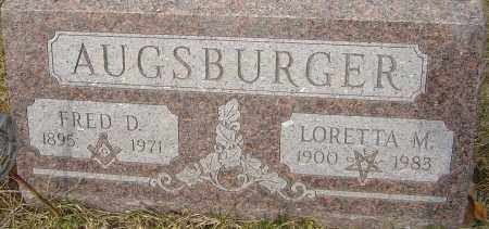 AUGSBURGER, FRED D - Franklin County, Ohio | FRED D AUGSBURGER - Ohio Gravestone Photos