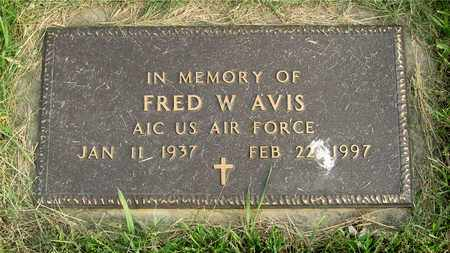 AVIS, FRED W. - Franklin County, Ohio | FRED W. AVIS - Ohio Gravestone Photos