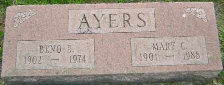 AYERS, BENO - Franklin County, Ohio | BENO AYERS - Ohio Gravestone Photos