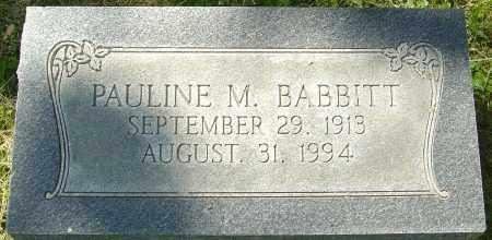 BABBITT, PAULINE - Franklin County, Ohio | PAULINE BABBITT - Ohio Gravestone Photos