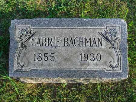 BACHMAN, CARRIE - Franklin County, Ohio | CARRIE BACHMAN - Ohio Gravestone Photos