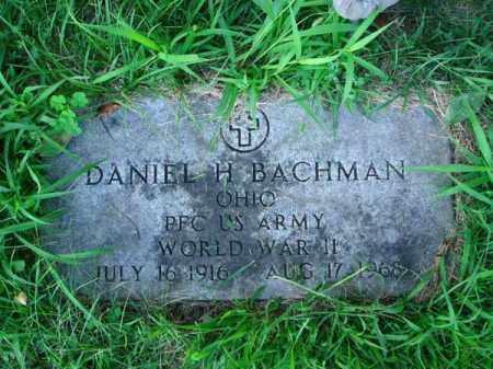 BACHMAN, DANIEL H. - Franklin County, Ohio | DANIEL H. BACHMAN - Ohio Gravestone Photos