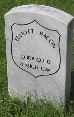 BACON, ELLIOTT - Franklin County, Ohio | ELLIOTT BACON - Ohio Gravestone Photos