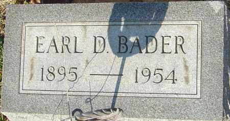 BADER, EARL D - Franklin County, Ohio | EARL D BADER - Ohio Gravestone Photos