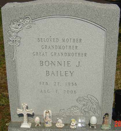 BAILEY, BONNIE J - Franklin County, Ohio | BONNIE J BAILEY - Ohio Gravestone Photos