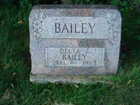 BAILEY, DELTA F. - Franklin County, Ohio | DELTA F. BAILEY - Ohio Gravestone Photos