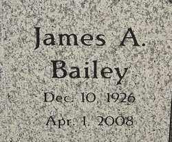BAILEY, JAMES A - Franklin County, Ohio | JAMES A BAILEY - Ohio Gravestone Photos