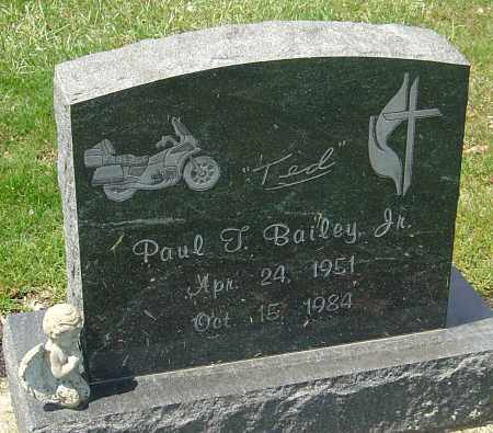 BAILEY, PAUL T. - Franklin County, Ohio | PAUL T. BAILEY - Ohio Gravestone Photos