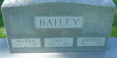 BAILEY, WALTER R - Franklin County, Ohio | WALTER R BAILEY - Ohio Gravestone Photos