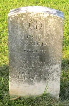 BAIRD, PAUL - Franklin County, Ohio | PAUL BAIRD - Ohio Gravestone Photos