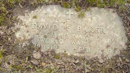 BAKER, DAVID F - Franklin County, Ohio | DAVID F BAKER - Ohio Gravestone Photos