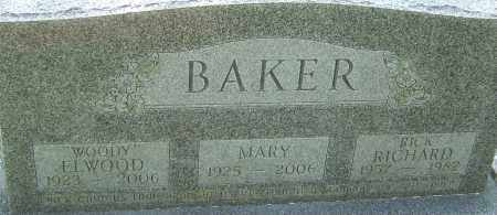 BAKER, MARY - Franklin County, Ohio | MARY BAKER - Ohio Gravestone Photos