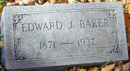 BAKER, EDWARD J - Franklin County, Ohio | EDWARD J BAKER - Ohio Gravestone Photos