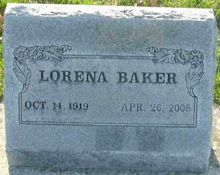 BAKER, LORENA - Franklin County, Ohio | LORENA BAKER - Ohio Gravestone Photos