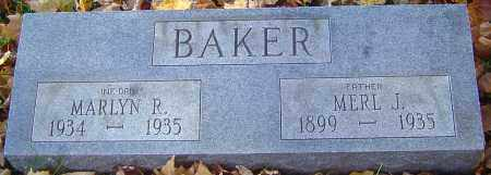 BAKER, MARLYN R - Franklin County, Ohio | MARLYN R BAKER - Ohio Gravestone Photos