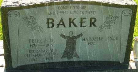 BAKER, PETER B - Franklin County, Ohio | PETER B BAKER - Ohio Gravestone Photos