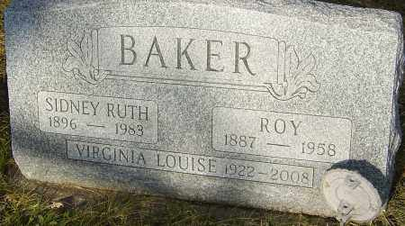 BAKER, SIDNEY RUTH - Franklin County, Ohio | SIDNEY RUTH BAKER - Ohio Gravestone Photos
