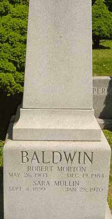 MULLIN BALDWIN, SARA - Franklin County, Ohio | SARA MULLIN BALDWIN - Ohio Gravestone Photos
