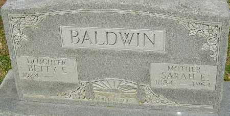 BALDWIN, SARAH E - Franklin County, Ohio | SARAH E BALDWIN - Ohio Gravestone Photos
