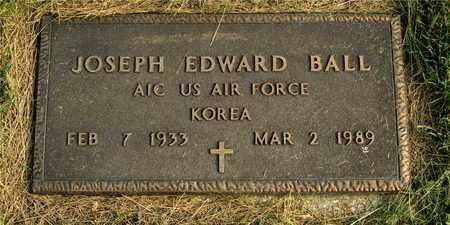 BALL, JOSEPH EDWARD - Franklin County, Ohio | JOSEPH EDWARD BALL - Ohio Gravestone Photos