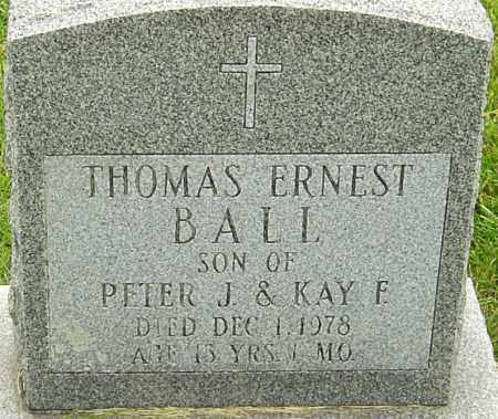 BALL, THOMAS ERNEST - Franklin County, Ohio | THOMAS ERNEST BALL - Ohio Gravestone Photos