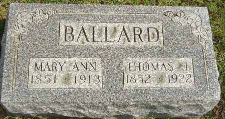 BALLARD, MARY ANN - Franklin County, Ohio | MARY ANN BALLARD - Ohio Gravestone Photos