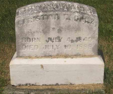 BALZ, CHRISTINA E. - Franklin County, Ohio | CHRISTINA E. BALZ - Ohio Gravestone Photos