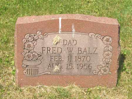 BALZ, FRED W. - Franklin County, Ohio | FRED W. BALZ - Ohio Gravestone Photos