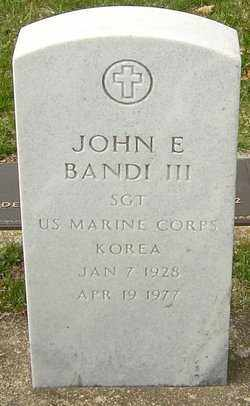 BANDI, JOHN E - Franklin County, Ohio | JOHN E BANDI - Ohio Gravestone Photos