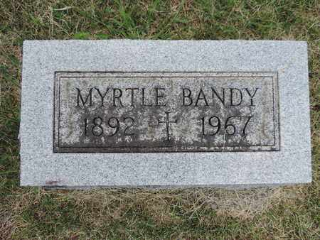 BANDY, MYRTLE - Franklin County, Ohio | MYRTLE BANDY - Ohio Gravestone Photos