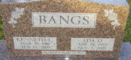BANGS, KENNETH - Franklin County, Ohio | KENNETH BANGS - Ohio Gravestone Photos