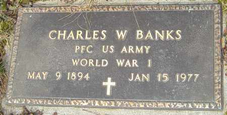 BANKS, CHARLES W - Franklin County, Ohio | CHARLES W BANKS - Ohio Gravestone Photos