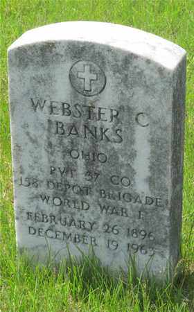 BANKS, WEBSTER C. - Franklin County, Ohio | WEBSTER C. BANKS - Ohio Gravestone Photos