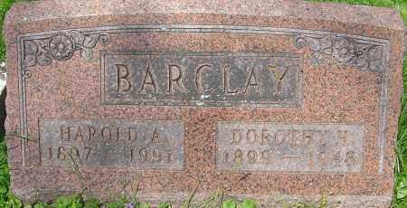 BARCLAY, HAROLD A - Franklin County, Ohio | HAROLD A BARCLAY - Ohio Gravestone Photos