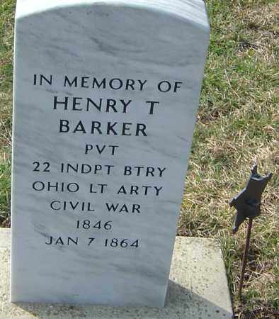 BARKER, HENRY T - Franklin County, Ohio | HENRY T BARKER - Ohio Gravestone Photos