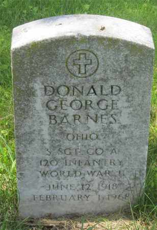 BARNES, DONALD GEORGE - Franklin County, Ohio | DONALD GEORGE BARNES - Ohio Gravestone Photos