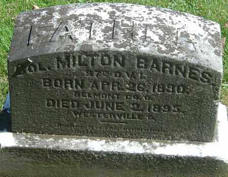 BARNES, MILTON - Franklin County, Ohio | MILTON BARNES - Ohio Gravestone Photos